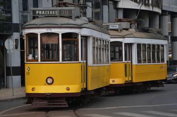 Traditional tram number 28, Lisbon, Portugal