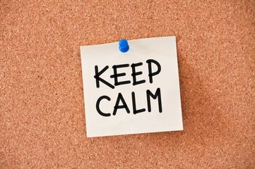 memo: keep calm
