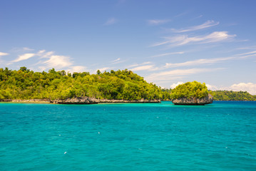 Scenic coastline in the Togian archipelago