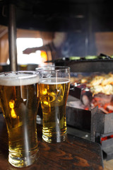 Beer and grill