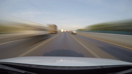 driving speed on highway (fast speed)