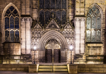 The front door of St Giles Cathedral