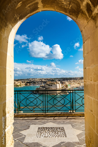 Foto op Canvas Mediterraans Europa Harbor in Vallettain frame