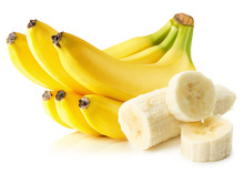 "Постер, картина, фотообои ""bananas isolated on the white background"""