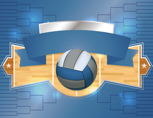 Volleyball Tournament Illustration