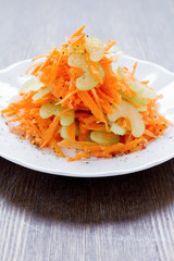 fresh salad of carrots and celery