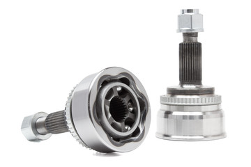 constant velocity joint on a white background. car parts chassis