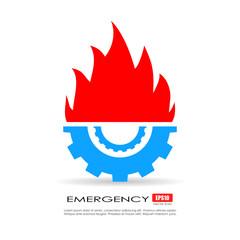 Emergency technical service logo