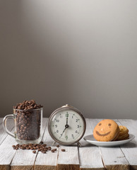 coffee with alarm clock