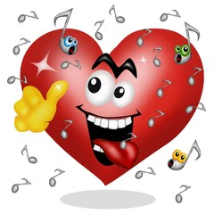 cuore  e musica rock