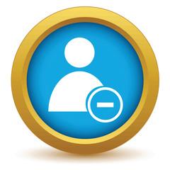 Gold remove user icon