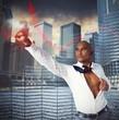 Warrior businessman as superhero
