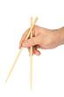 Hand with chopsticks