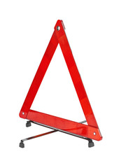 Warning car sign - red triangle