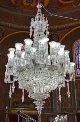 Retro chandelier in mosque - Istanbul Turkey
