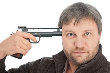 Shoot in head with gun