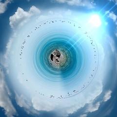stunning circular beach panorama