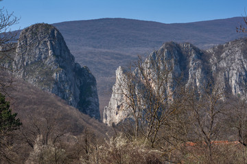 Rock Formation in Erma River Gorge, Serbia