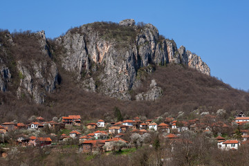 Panorama of Vlasi Village and rock formation, Serbia