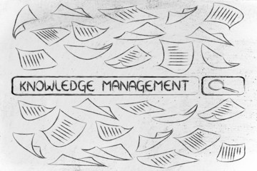 researching about knowledge management, messy business documents