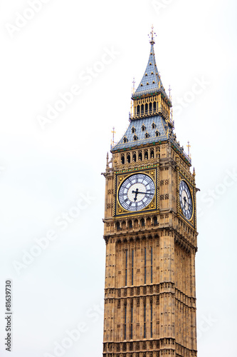canvas print picture Big Ben in Westminster, London England UK