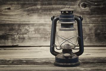 Old Lantern on aged wood