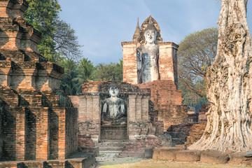 Buddha Statue at Wat Mahathat in Sukhothai Historical Park,Thail