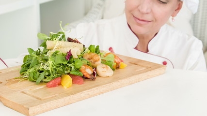 Very delicious fresh cooking hors