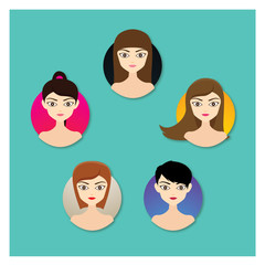 Girl Hairstyle Flat Icon
