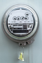 Electric meter front view