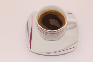 Isolated traditional Turkish coffee on a white background