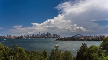 Timelapse of Sydney Harbour, CBD and Harbour Bridge