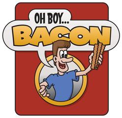 Oh Boy Bacon! vector emblem