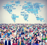 Culture Community Ideology Society Principle Concept poster
