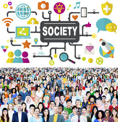 Society Community Global Connecting Internet Concept