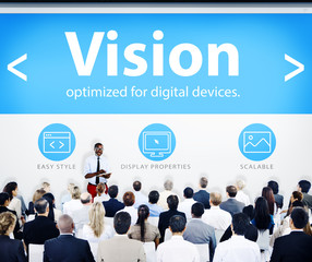 Group Business People Seminar Vision Concept