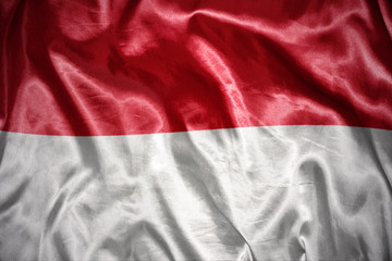 shining indonesian flag