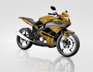Motorcycle Motorbike Riding Rider Contemporary Brown Concept