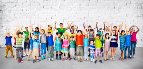 Children Kids Childhood Friendship Happiness Diversity Concept