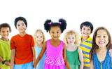 Fototapety Children Kids Happiness Multiethnic Group Cheerful Concept