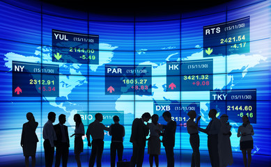 Business People Stock Exchange Discussion Concept