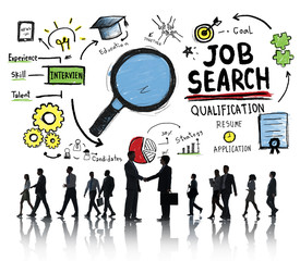 Business People Job Search Application Interview Concept