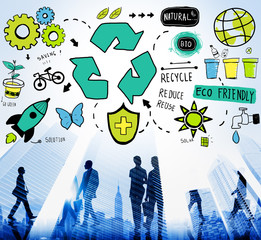 Recycle Reduce Reuse Eco Friendly Natural Saving Green Concept