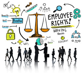 Employee Rights Employment Equality Business Handshake Concept
