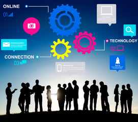 Functionality Industry Teamwork Connection Technology Concept