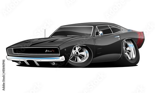 Plexiglas Auto American Muscle Car Cartoon