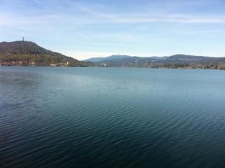 Lake Woerth View To Maria Woerth & Pyramidenkogel