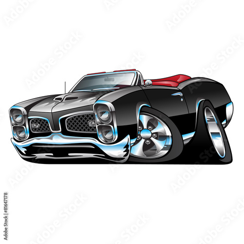 Fotobehang Auto Classic American Convertible Muscle Car