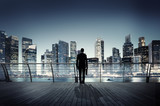 Businessman Corporate Cityscape Urban Scene Building Concept