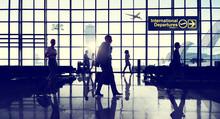 "Постер, картина, фотообои ""International Terminal Business Travel Transportation Concept"""